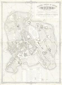 Mappa della città di Udine (ing. Antonio Lavagnolo (1843-1850).