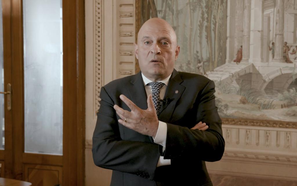 Il Presidente dell'Ente Friuli nel Mondo, Loris Basso, durante l'intervista