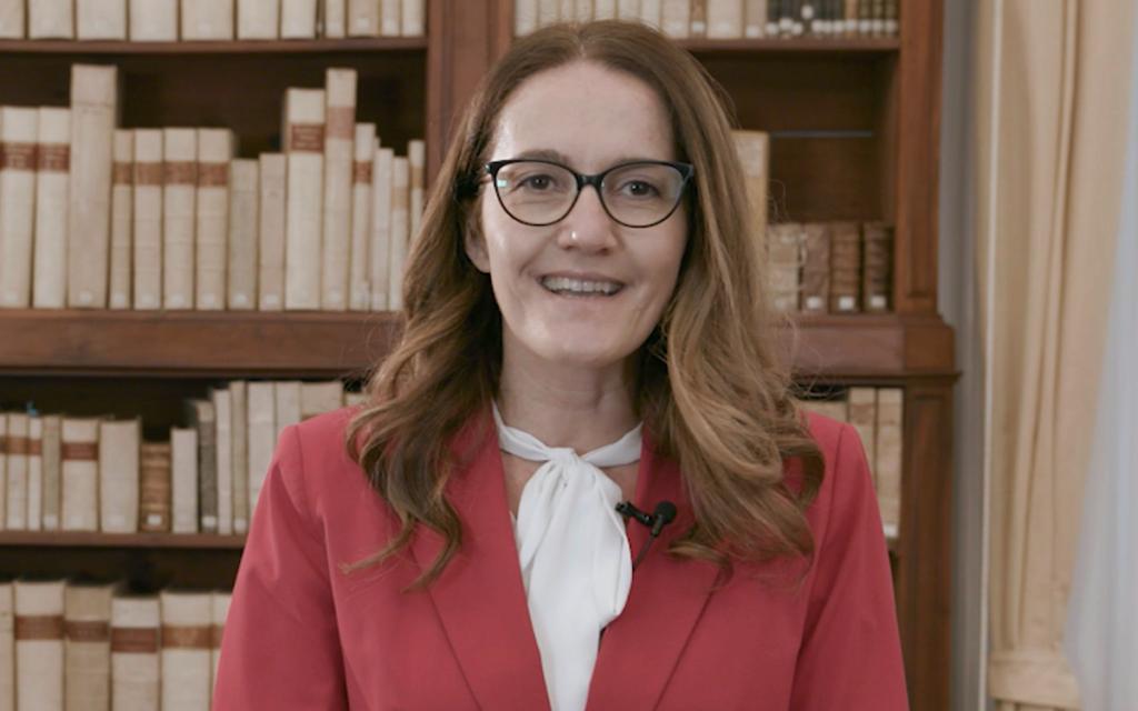 La Presidente di Confcooperative, Paola Benini, durante l'intervista
