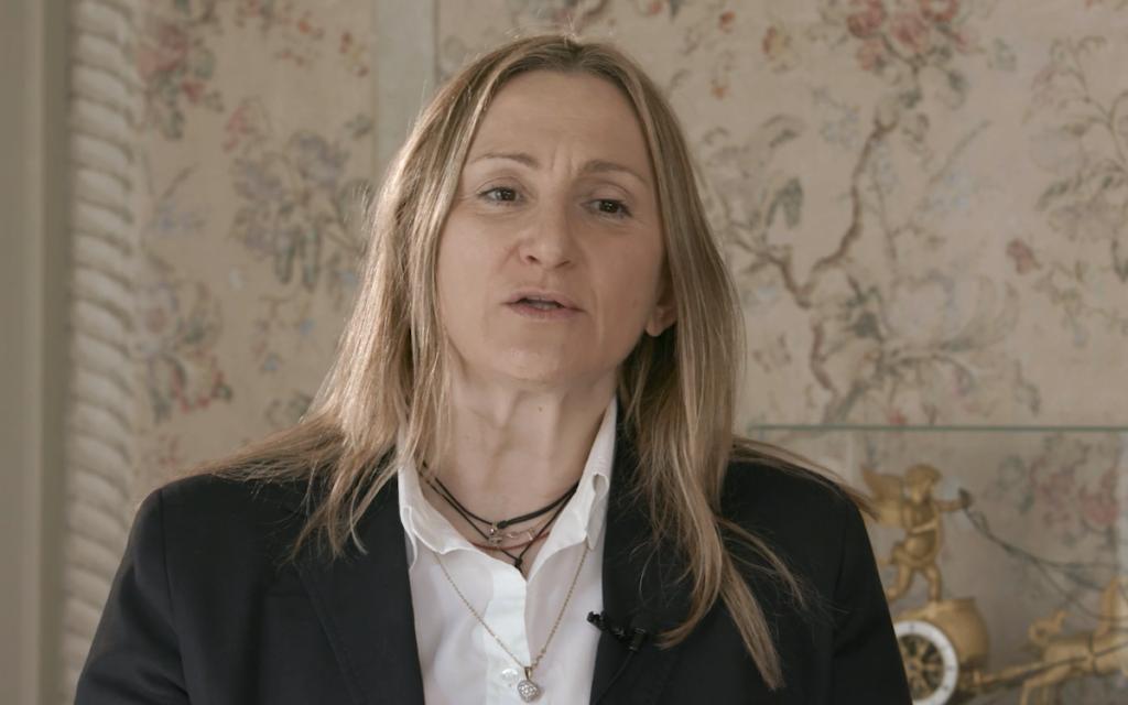 La Direttrice del Confapi, Lucia Piu, durante l'intervista