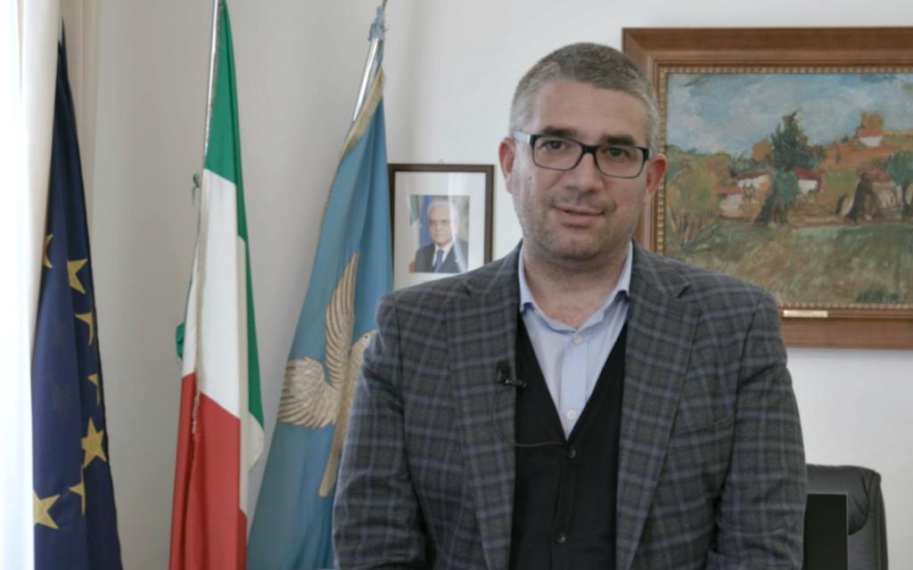 L'Assessore regionale, Pierpaolo Roberti, durante l'intervista