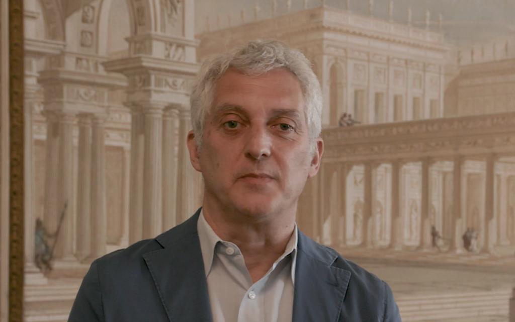 Il Direttore del DIUM, Andrea Zannini, durante l'intervista